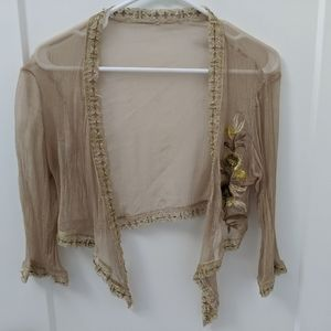 Guess Sheer Gold Shrug